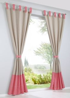house ideas Color Ideas and Fabric Patterns for Cool Kitchen Curtains – Next Future Home Jewelry Cute Curtains, Tassel Curtains, Colorful Curtains, Window Curtains, Quilted Curtains, Curtain Inspiration, Blackout Drapes, Custom Drapes, Indoor Christmas Decorations