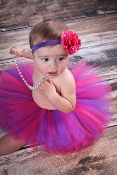 Hot Pink and Purple Tutu-Birthday Tutu-Baby Tutu-Photo Prop-Baby/Adult Tutu Tutu Only on Etsy, $19.95