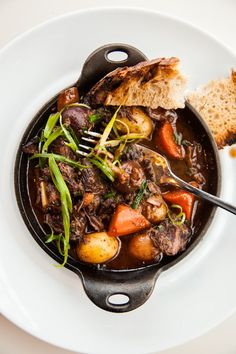 Beef Bourguignon.  to read later...  Looks good!