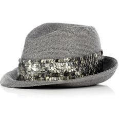 Eugenia Kim Max Toyo Sequin Band Fedora ($69) ❤ liked on Polyvore featuring accessories, hats, cappelli, sombreros, women, fedora hats, eugenia kim hats, sequin hat, band hats and straw hats