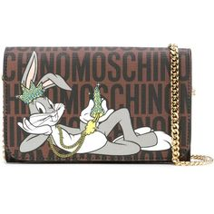 Moschino Bugs Bunny crossbody bag (17.620 UYU) ❤ liked on Polyvore featuring bags, handbags, shoulder bags, brown, brown shoulder bag, brown purse, crossbody handbags, moschino purse and chain handle handbags