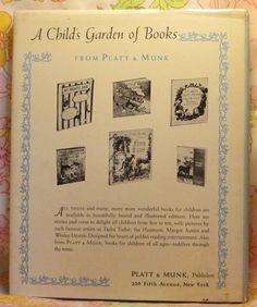 VINTAGE KIDS BOOK A Child's Garden of Verses a Platt & Munk Deluxe Edition - Robert Louis Stevenson - Eulalie