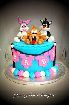 Looney Tunes Baby Shower Cake By: Yummy Cake Delights