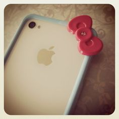 Hello Kitty iPhone 4/4S bumper with by PetitBijouxBoutique on Etsy, $28.00