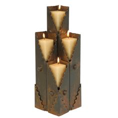 Southwest Metal Candle Holder