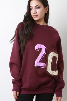 Number 20 Long Sleeves Sweatshirt