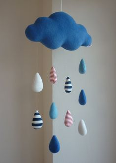 Rain Cloud decorative baby mobile by alelale on Etsy