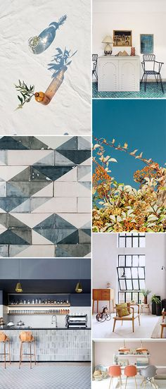 cool blues and hints of pale peachy blush and orange inpirational images / sfgirlbybay