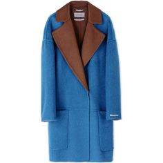 Sportmax Coat ($2,095) ❤ liked on Polyvore featuring outerwear, coats, turquoise, sportmax, blue coat, lapel coat, long sleeve coat and sportmax coat