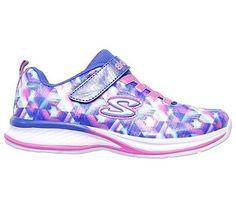 Skechers Kids' Jumpin Jams Lightweight Sneaker Pre/Grade School Shoes (Blue/Multi)