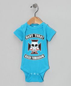 Take a look at this Turquoise 'Baby Today' Bodysuit - Infant by Garage Gang on #zulily today!