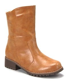 LOVE these...too bad they don't come in 9.5! Take a look at this Tan Outlaw Low Boot by Anna Shoes on #zulily today!