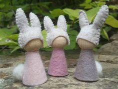 Lapin nains de jardin par MyLittleAcorns sur Etsy