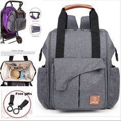 Reasonable Fashion Pu Leather Backpack Brown Black Handbag Shoulder Bags Multifunction Diaper Bag Backpack Maternity Changing Bag Nappy Bag To Produce An Effect Toward Clear Vision Mother & Kids Nappy Changing