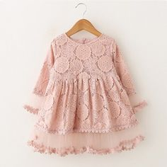 Victory! Check out my new Charming Hollow Out Long Sleeves Lace Dress for Toddler Girl and Girl, snagged at a crazy discounted price with the PatPat app.