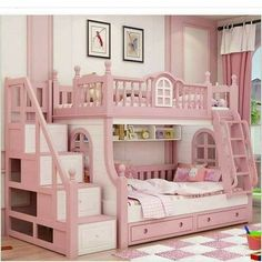 Cheap bunk bed, Buy Quality bed girl directly from China princess bed Suppliers: bunk bed pink childern bed Solid wood bady fluctuation bed girl princess bed Bed For Girls Room, Cool Kids Bedrooms, Kids Bedroom Designs, Bunk Bed Designs, Cute Bedroom Ideas, Kids Room Design, Little Girl Rooms, Girls Bedroom, Trendy Bedroom