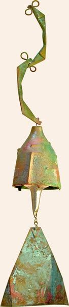 Cosanti wind chime. I have a similar bell a good friend made at Arcosanti. everytime I hear it, it takes me back to my lovely days at Arco.