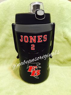 Personalized Under Armour jug by Gina Beans Originals