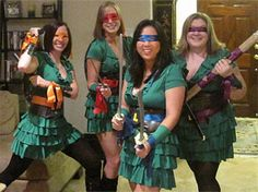 Teenage Mutant Ninja Turtles Costumes | @Jenafer Lowe  for all the snow canyon teachers and super cool SLP for Halloween!