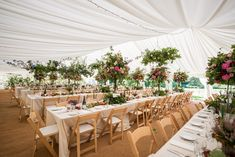Floral and Elegant Clearspan Marquee  www.oakleafmarquees.co.uk