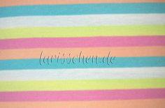 Stoff Streifen - Sanetta Baumwolljersey gebürstet Regenbogen 0,5 m - ein Designerstück von larisschen-de bei DaWanda