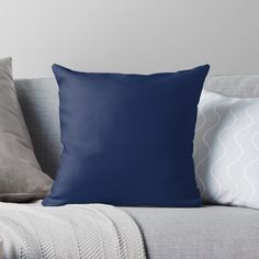 """Navy Blue"" Throw Pillow by Dareimages 
