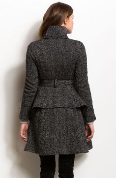 Peplum Tweed Coat - Outerwear - Womens - Armani Exchange