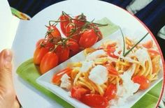 spaghetti with marinated cherry tomatoes and ricotta from the tomato cooking book