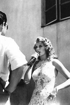 """"""" Rita Hayworth behind the scenes of You Were Never Lovelier (1942) """""""