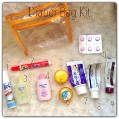 Walking with Dancers: My Goes-Everywhere-We-Go Essentials: Diaper Bag Kit--- if I could only be this organized.