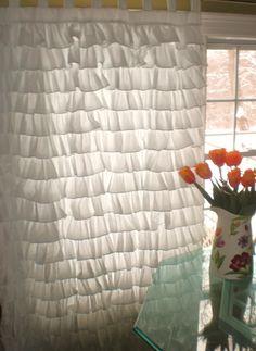 Small Ruffles Curtain. via Etsy.