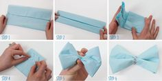How to make a paper napkin bow tie: