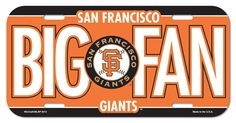 San Francisco Giants License Plate - Big Fan