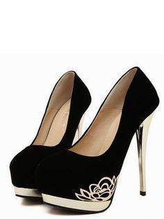 Black High Heels Fashion Shoes