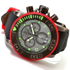 Invicta Men's Sea Hunter Swiss Chronograph Exhibition Back Strap Watch. $349.99 With free next day shipping!