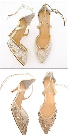 Feminine   flirty bridal shoes. Gold Wedding Shoes. Lace wedding shoes 41715f314