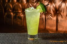 One of our most popular drinks, the Green Envy features muddled basil, cucumber and celery, mixed with Square One Organic Cucumber Vodka and served over ice. So refreshing!