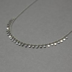 Tiny Sequin Necklace in Sterling Silver by EmmaAlisonDesigns, $58.00