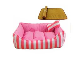 Pet Dog Simple Stripes Washable Short Plush Bed Nest * More info could be found at the image url.