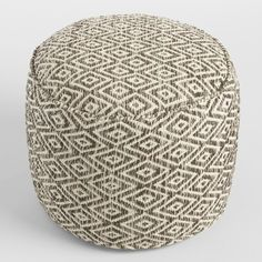 Our exclusive floor pouf features a natural color scheme and Southwestern-inspired diamond design. This comfy cushion is ideal for distinguishing small spaces or adding an extra seat for guests without taking up too much floor space.