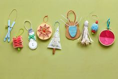 You'll want to hang on to these homespun tree trimmers for years to come.