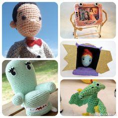 Pee-wee and Friends Pee-wee's Playhouse Crochet Amigurumi Pattern Set 5 patterns $15