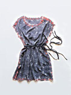 hand painted silk dress