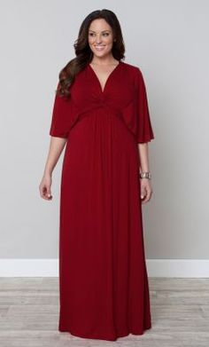 Check out the deal on Charlize Maxi Dress-Sale! at Kiyonna Clothing