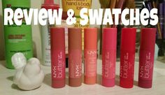 Richelle Loves Life: NYX Cosmetics Butter Lip Balm - Video Review & Swatches * Biscotti Panna Cotta Red Velvet Ladyfingers Parfait Macaron