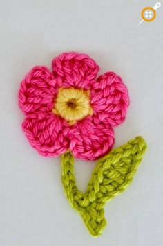 Crochet Flower Applique Pattern Free Crochet Flower Applique Pattern Crochet Flower Pattern With spring and Easter just around the corner I would like to share this free flower crochet pattern with you. It would look great sewn . Unique Crochet, Crochet Motif, Crochet Patterns, Ravelry Crochet, Crochet Appliques, Crochet Leaves, Crochet Afghans, Crochet Ideas, Crochet Puff Flower