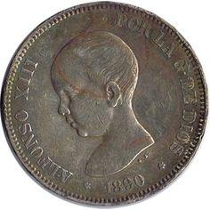 05 Pesetas. (1890)(*18-90) Madrid PG M - EBC-. Brillo original.