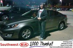 https://flic.kr/p/MDw1mj | #HappyAnniversary to Linda and your 2015 #Kia #Optima from Mike Stanton at Southwest Kia Mesquite! | www.deliverymaxx.com/DealerReviews.aspx?DealerCode=VNDX