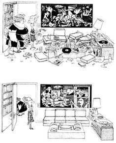 Quino / Guernica -> Ordenar la casa...