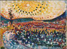 Jan SLUIJTERS (1881-1957)   Oktoberzon (Laren) 1910 Kunst Poster, Dutch Painters, Summer Landscape, Post Impressionism, Dutch Artists, Color Of Life, Beautiful Paintings, Art Inspo, Painting & Drawing
